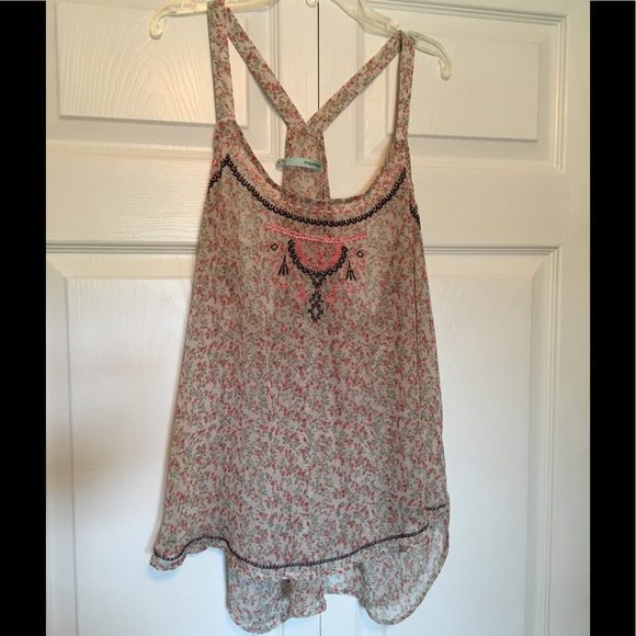 Maurices Tops - Maurice's flowy, sheer, floral tank NWOT XXL